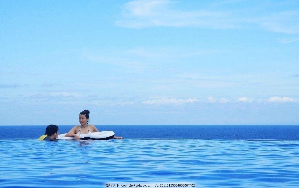 无边泳池 巴厘岛 蓝点酒店 天际线 国外旅游 摄影