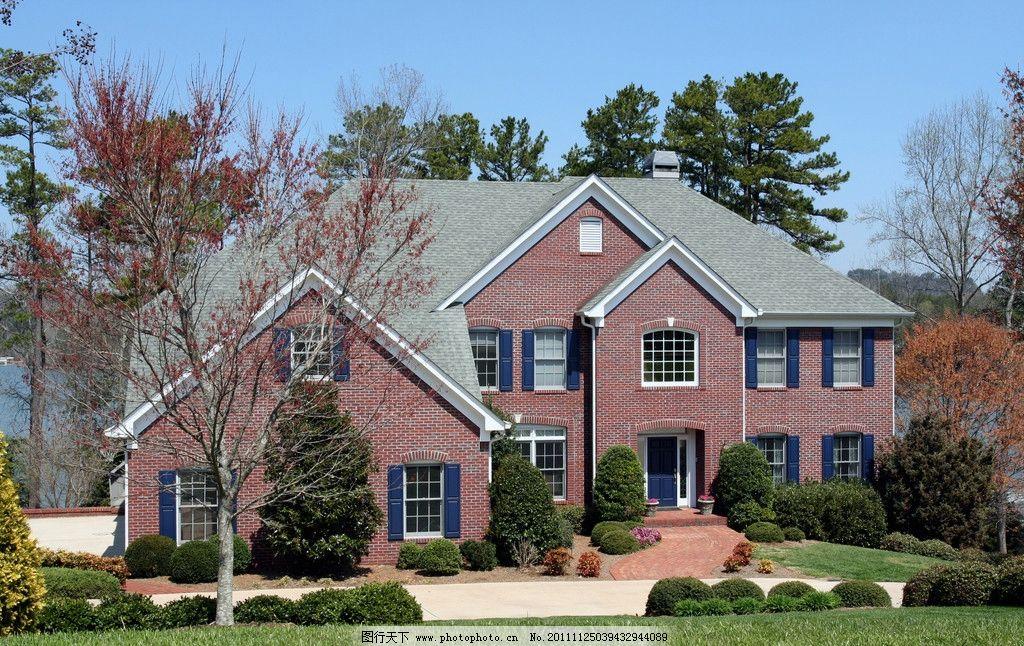 设计图库 广告设计 dm宣传单  美国别墅 国外 别墅 园林 房屋 风景