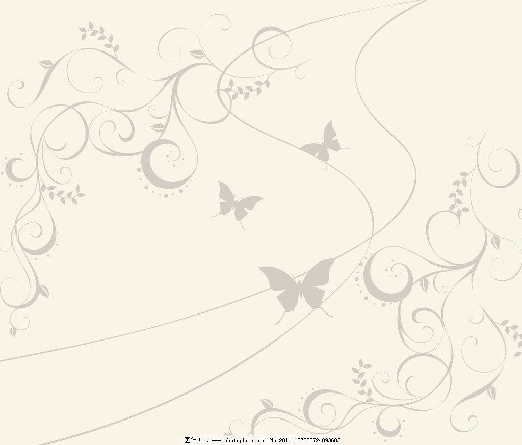 时尚花纹移门 背景 曲线 蝴蝶 广告设计 移门设计图