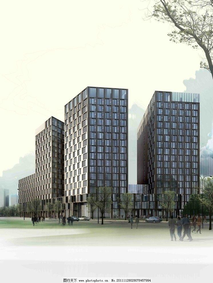 建筑效果图 建筑景观效果图 异形建筑 城市效果图 城市建筑 建筑蓝图