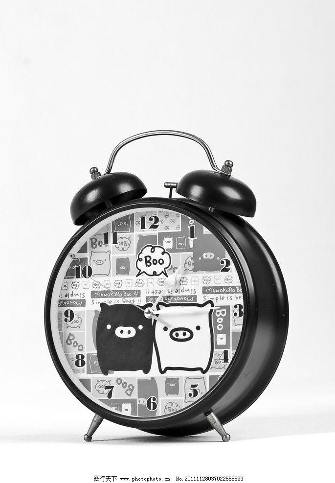 黑白猪 闹钟图片