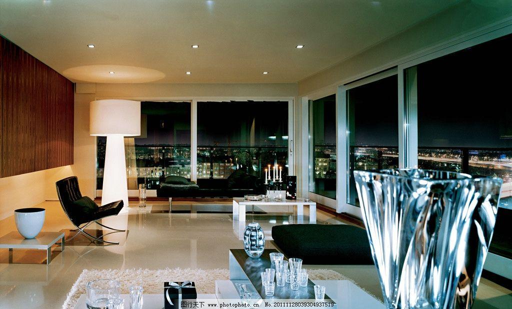 豪华景观办公室 水晶被子 落地窗 大理石地砖 沙发 室内摄影 建筑园林
