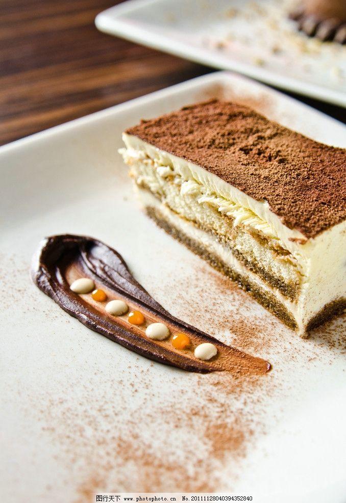 精美甜点 芝士蛋糕 西式甜点 西式糕点 巧克力芝士蛋糕 巧克力粉抹图片