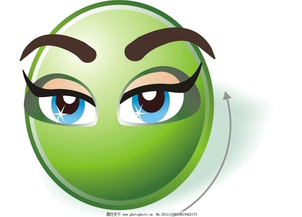 卡通头像 插画 绿色      清新可爱 其他 动漫动画 设计 300dpi jpg