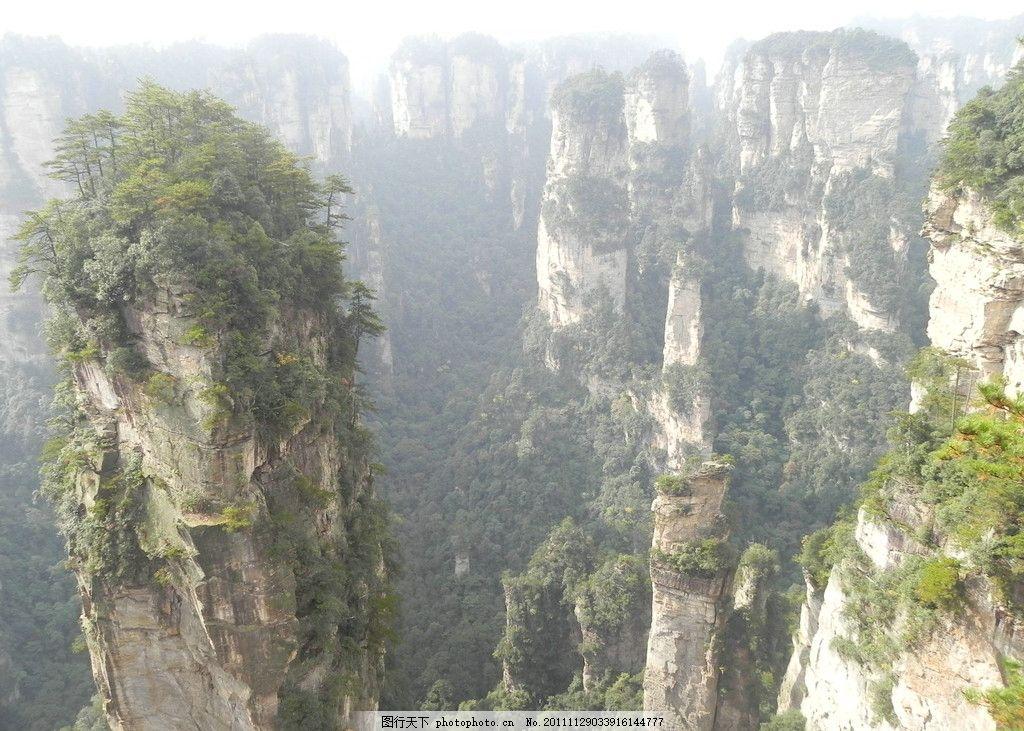 哈里路亚山原型 国家森林公园 秋天 地质奇观 天空 蓝天 白云 树林