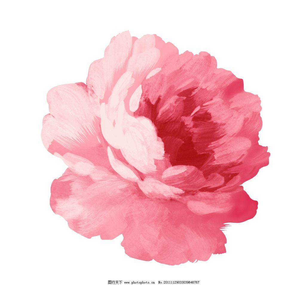 手绘花朵 手绘 花朵 psd 粉色 水粉 可爱 psd分层素材 源文件 254dpi