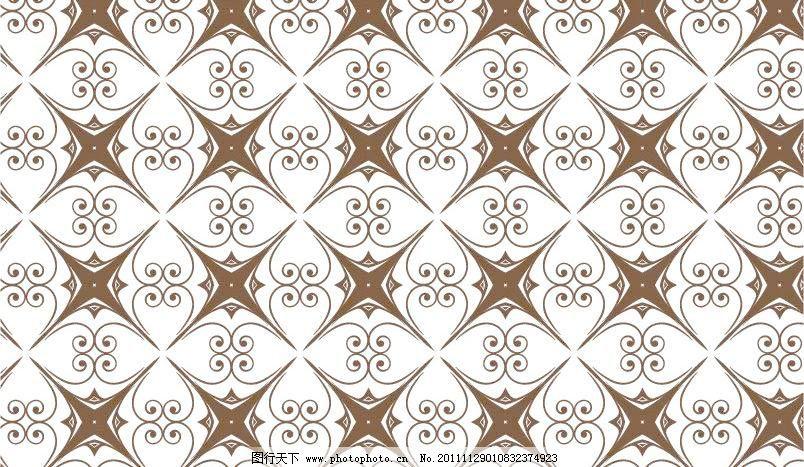 欧式花纹古典花纹无缝背景矢量素材