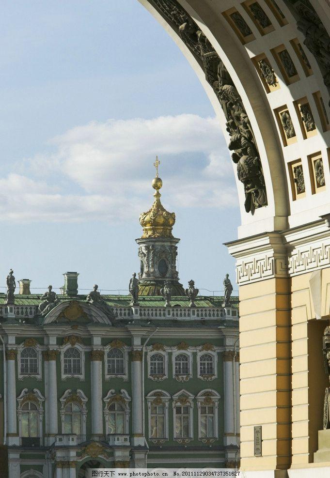 欧式门 欧式拱门 欧式建筑 塔楼 建筑景观 自然景观 摄影 300dpi jpg