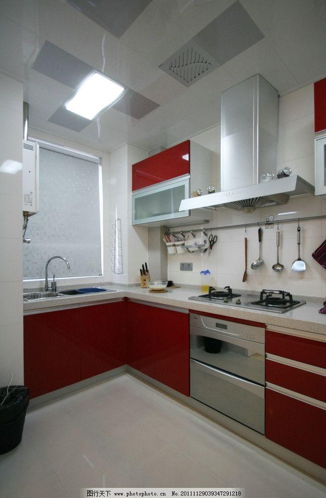 厨房部分 橱柜 吊柜 集成吊顶 室内摄影 建筑园林