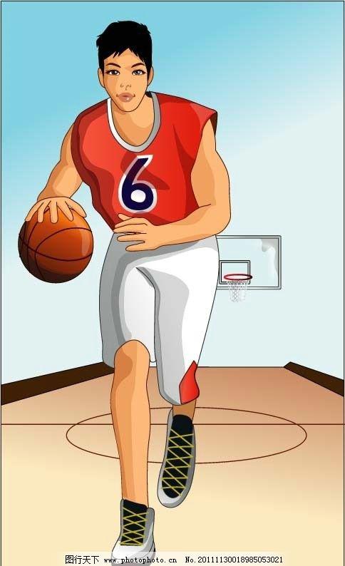 篮球比赛人物 篮球矢量图 篮球 矢量 cdr 麦迪 火箭 nba 姚明 油画