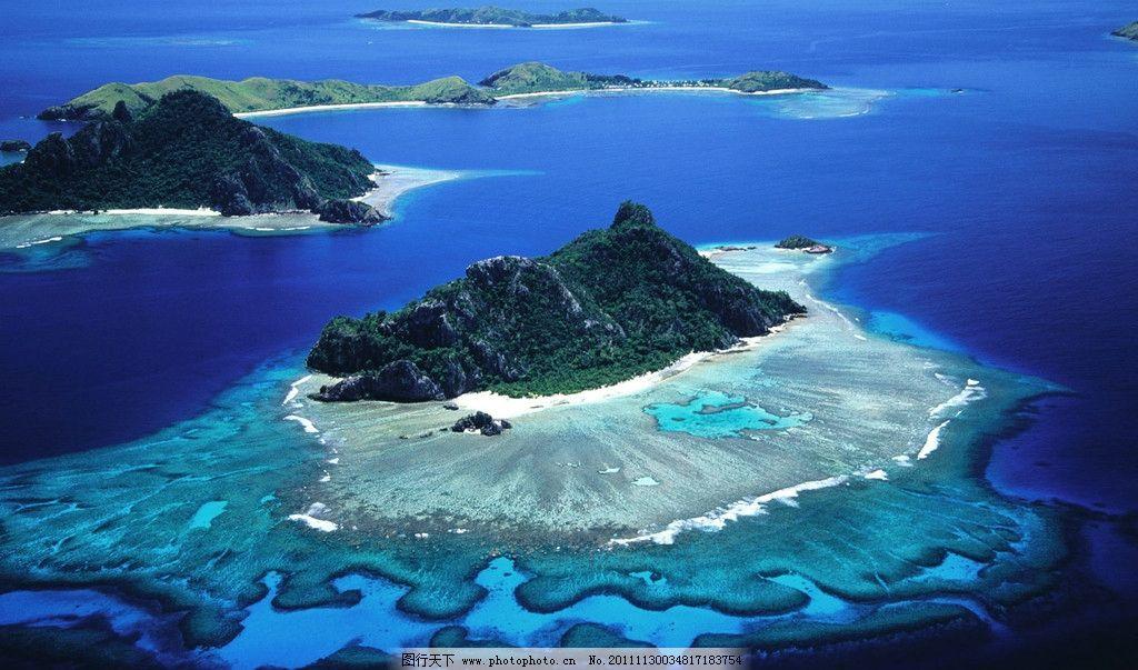 海岛鸟瞰 景观设计 自然景观拍摄