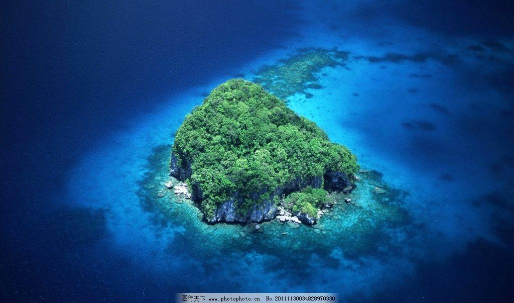 岛屿 海岛鸟瞰图