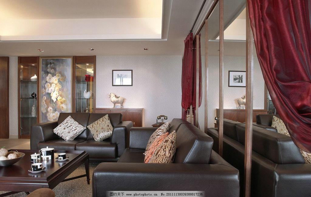 室内摄影 建筑 欧式 房间 家居 家具 窗户 窗帘 壁灯 射灯
