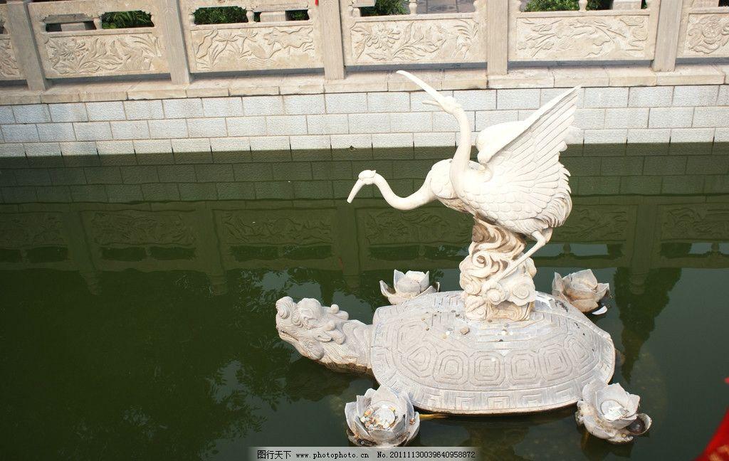 飞鹤 乌龟 雕塑 湖泊 建筑景观 雕塑景观 飞鹤雕塑 海龟雕塑 建筑园林