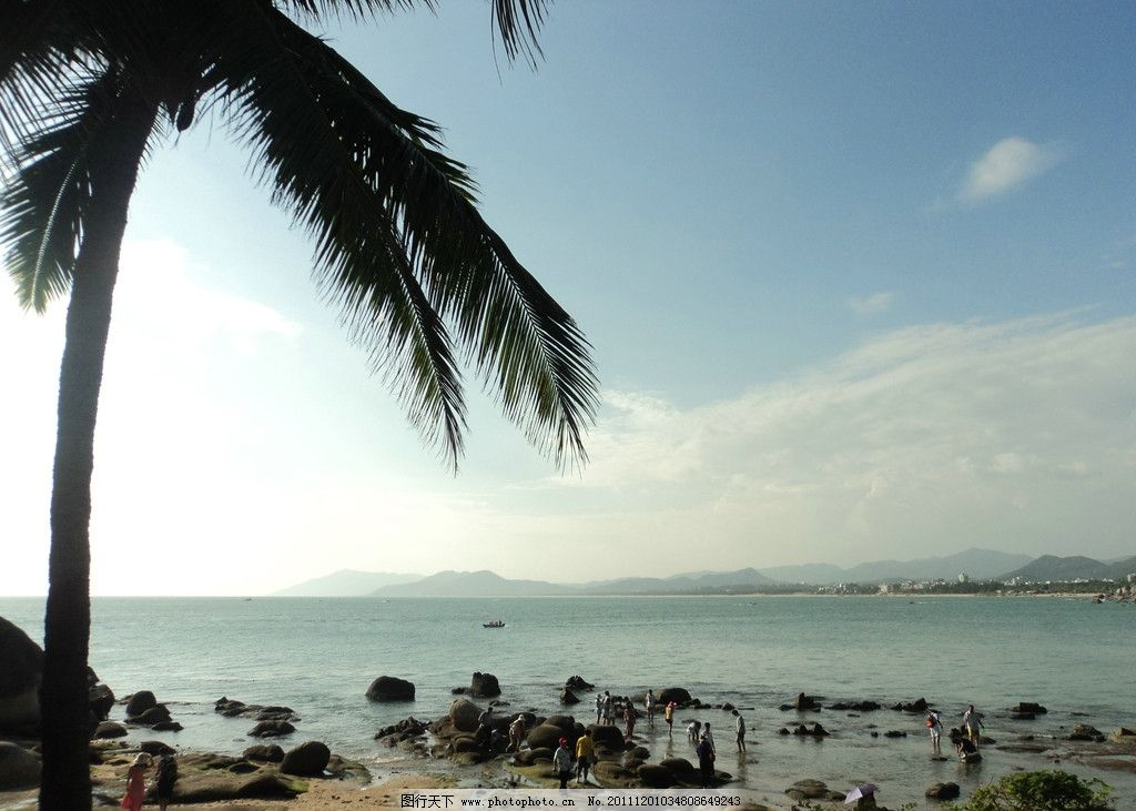 大海(非高清) 蓝天 椰树 沙石 海边 海风 大海 海岸 自然风景 自然