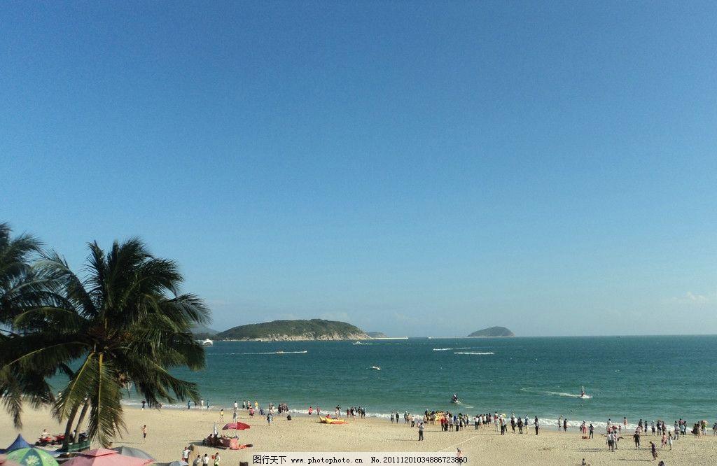 大海(非高清) 大海 海浪 海边 蓝天 椰树 海风 自然风景 自然景观