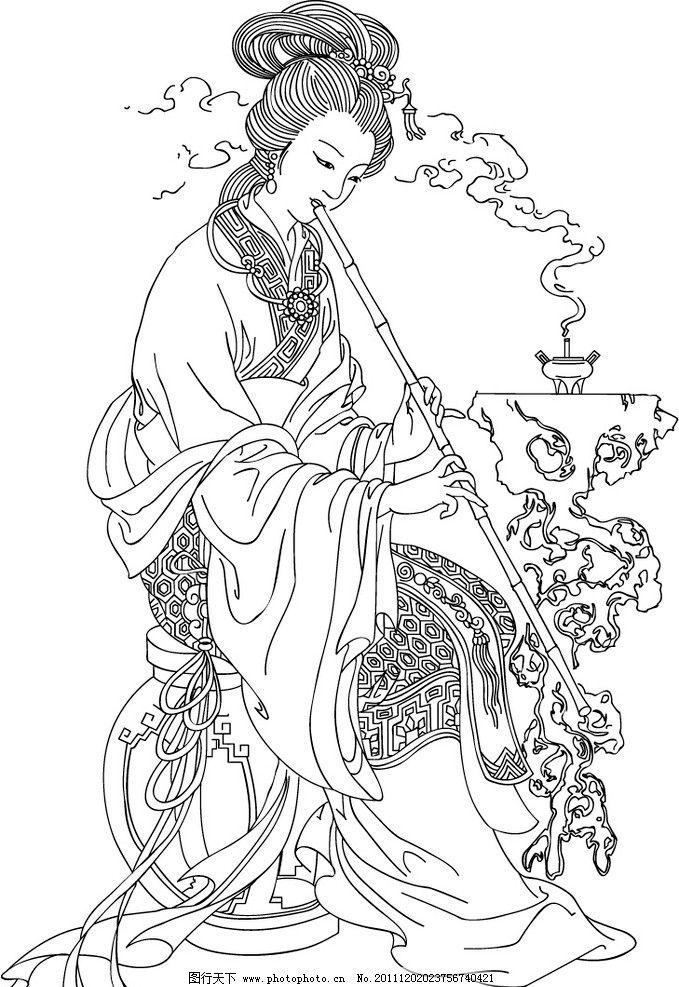 古代美女手绘图片