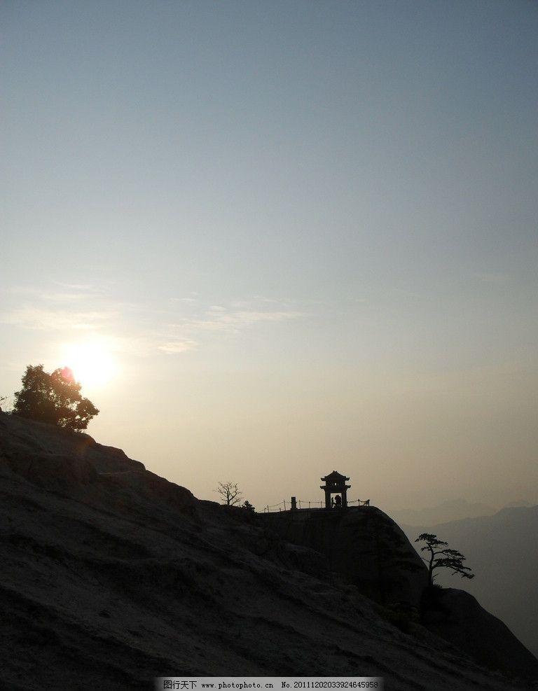华山日出风光 华山 山峦 日出 五岳 风景名胜区 华山风景 国内旅游