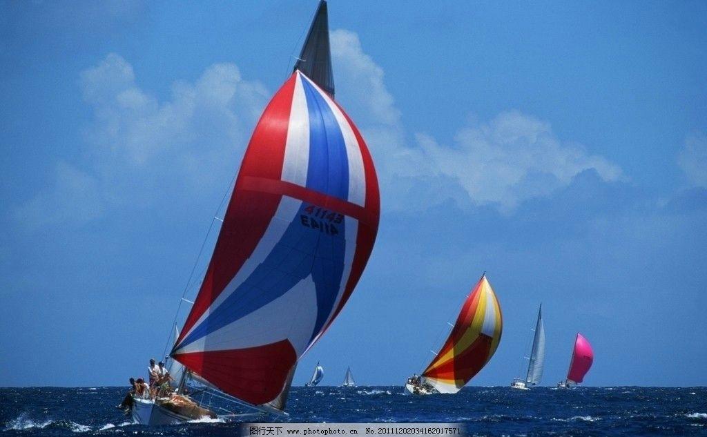 帆船图片,大海 蓝色 天空 自然风景 旅游摄影-图行