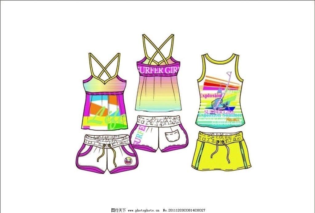 女童服装款式设计手稿图片