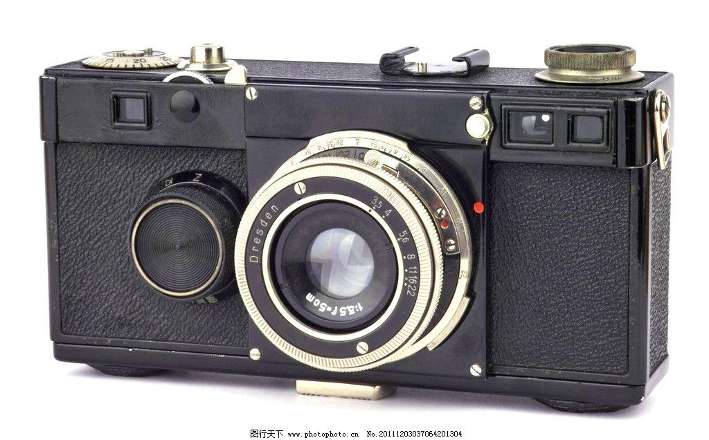 照相机特写 照相机 胶片相机 老式 古老 旧式 白背景 素材 镜头 莱卡