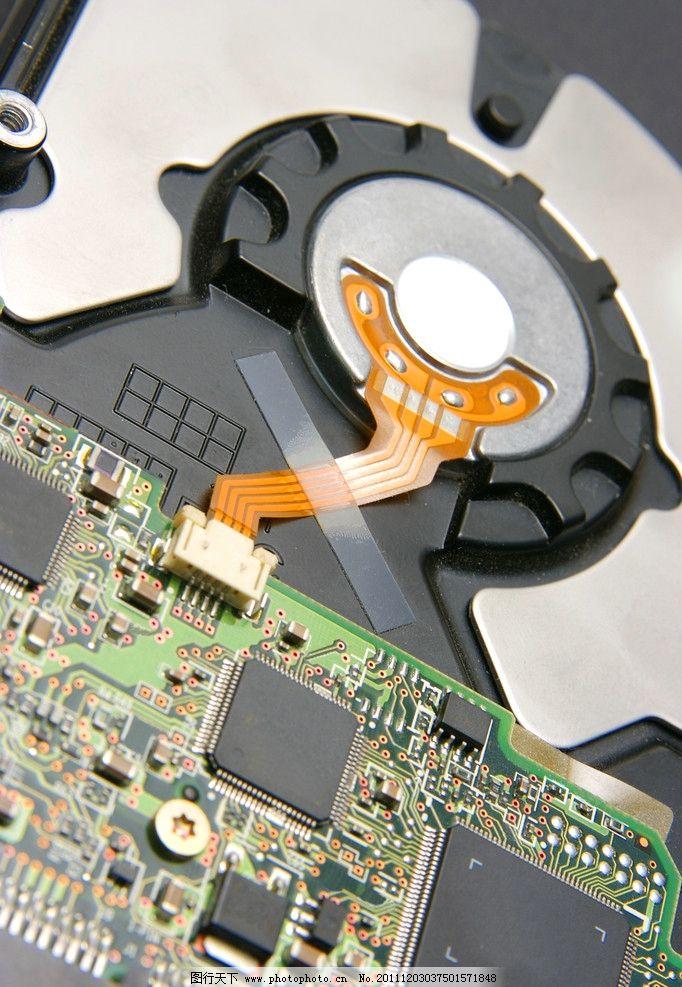 电脑硬盘特写 电脑硬盘 特写 电路板 机械 构造 拆解 线路 电脑网络