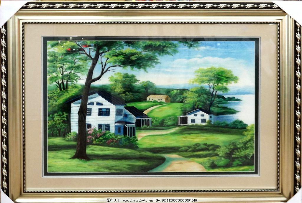 苏绣 风景画图片