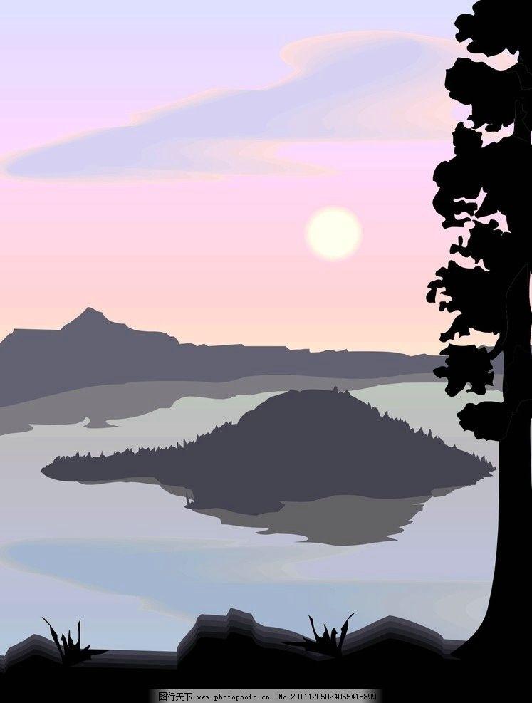 山水风景图片,矢量-图行天下图库
