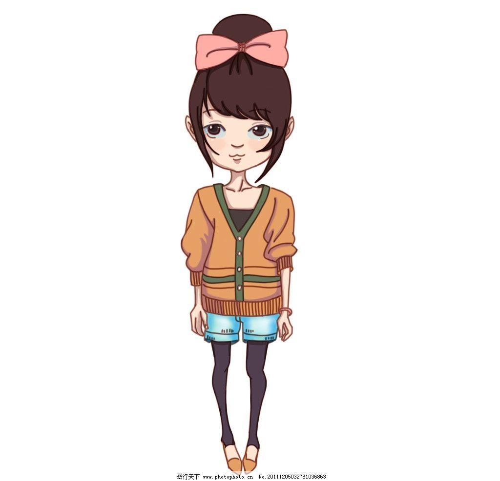 时尚可爱q版女孩图片