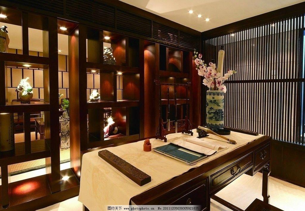 中式房间 中式 古典 实木 艺术品 装修 装饰 装潢 室内 家居 家具图片