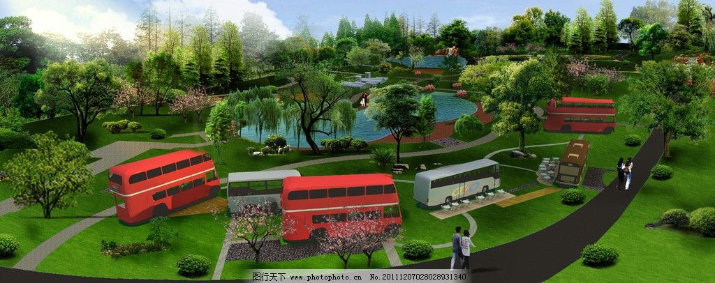 公园汽车营地景观效果图图片