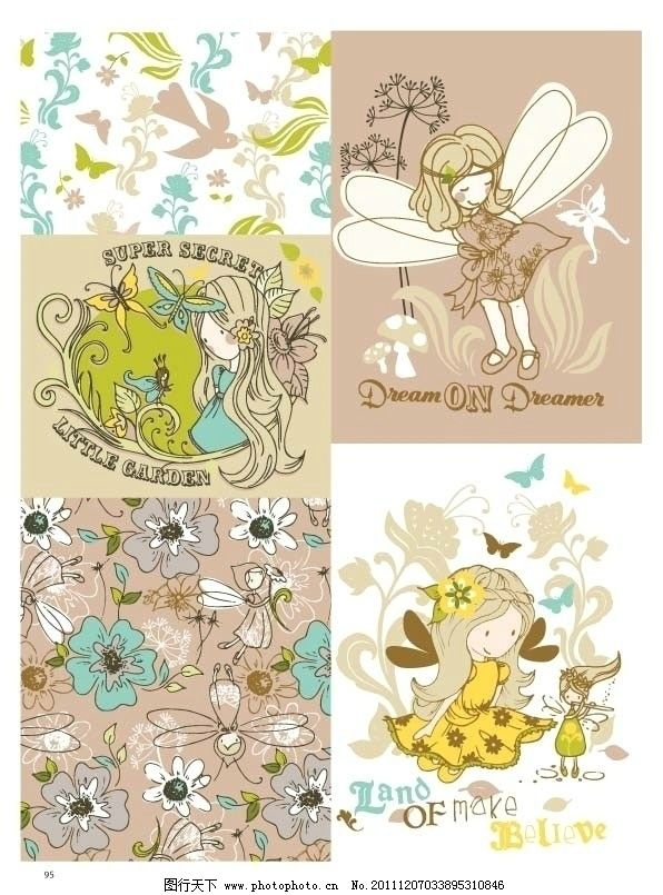 卡通 童装/童装卡通图案设计手稿流行趋势图片