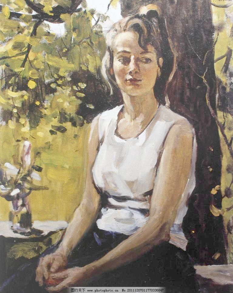 72dpi jpg 俄罗斯 风景画 绘画书法 明亮 人物 少女 设计 文化艺术 油
