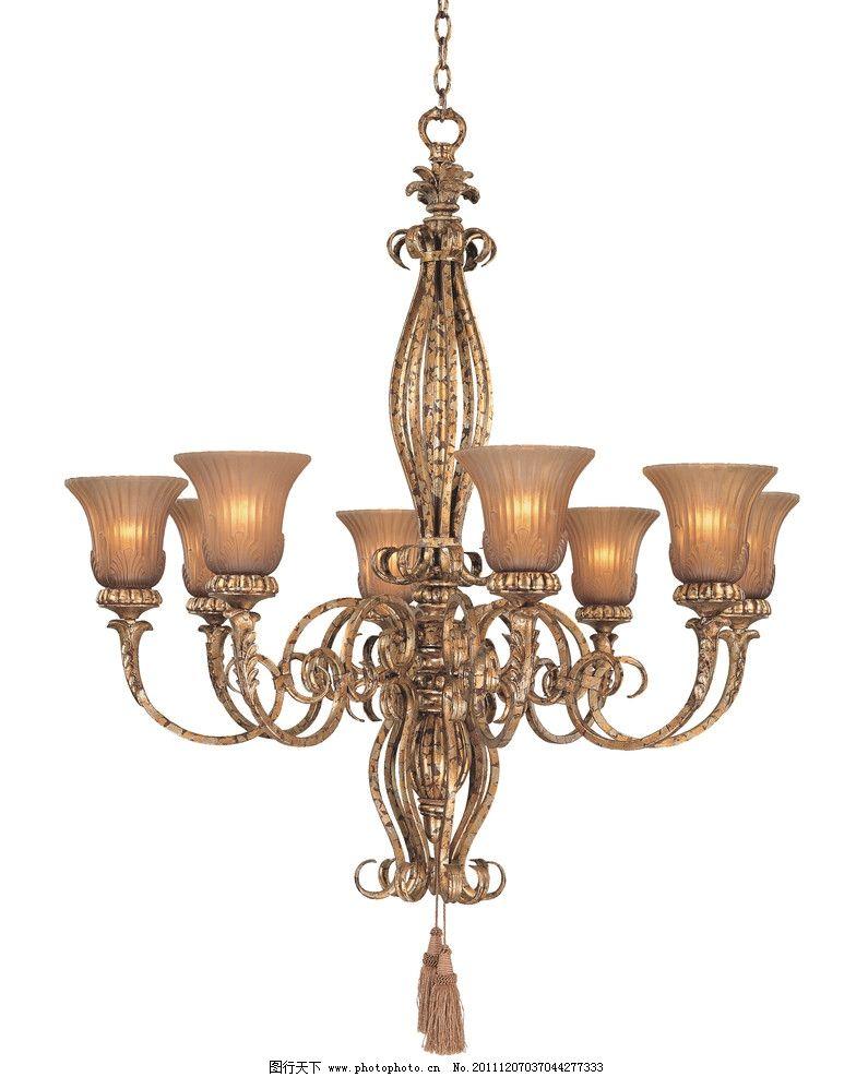 黄铜欧式豪华吊灯图片