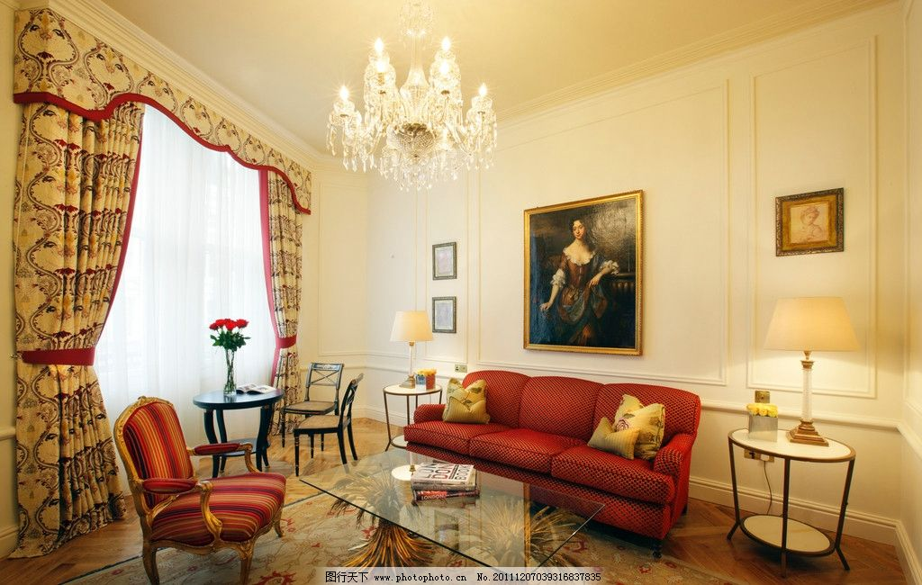 豪华欧式公寓客厅图片