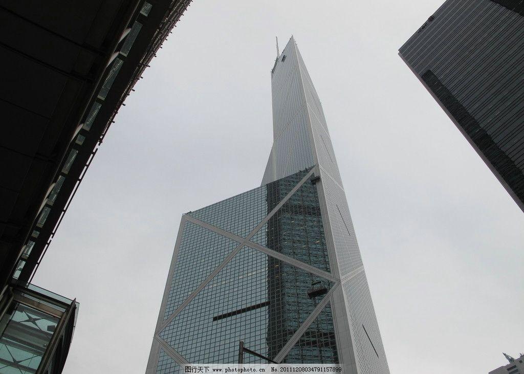 香港中银大厦 香港 中银大厦 建筑 楼群 大楼 建筑景观 自然景观 摄影