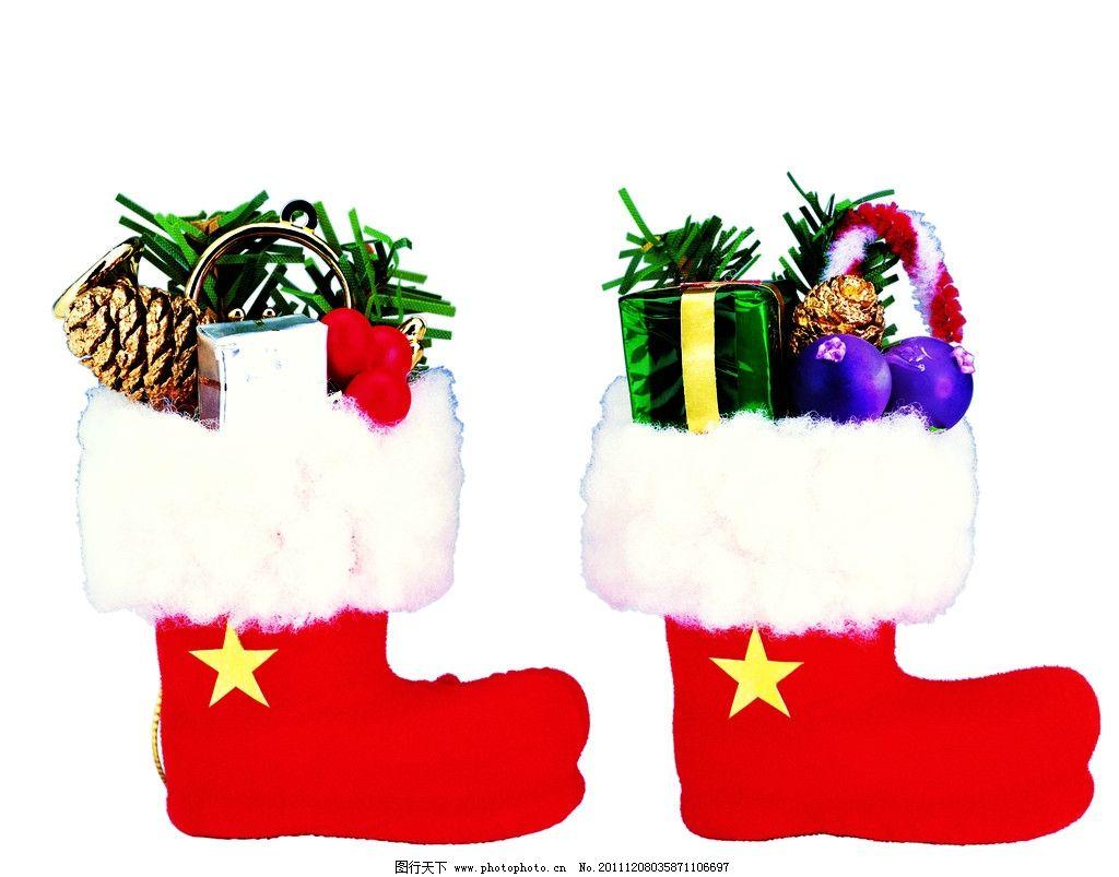 圣诞袜图片_树木树叶_生物世界_图行天下图库