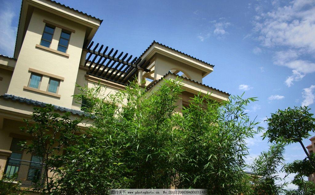 别墅 洋房 庭院 院子 园艺 花园 欧式 庄园 小区 房地产 地产