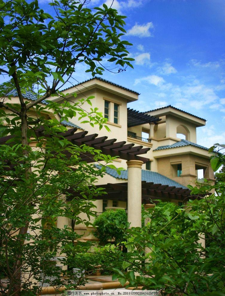 别墅 洋房 庭院 院子 园艺 花园 欧式 庄园 小区 房产 地产 房地产