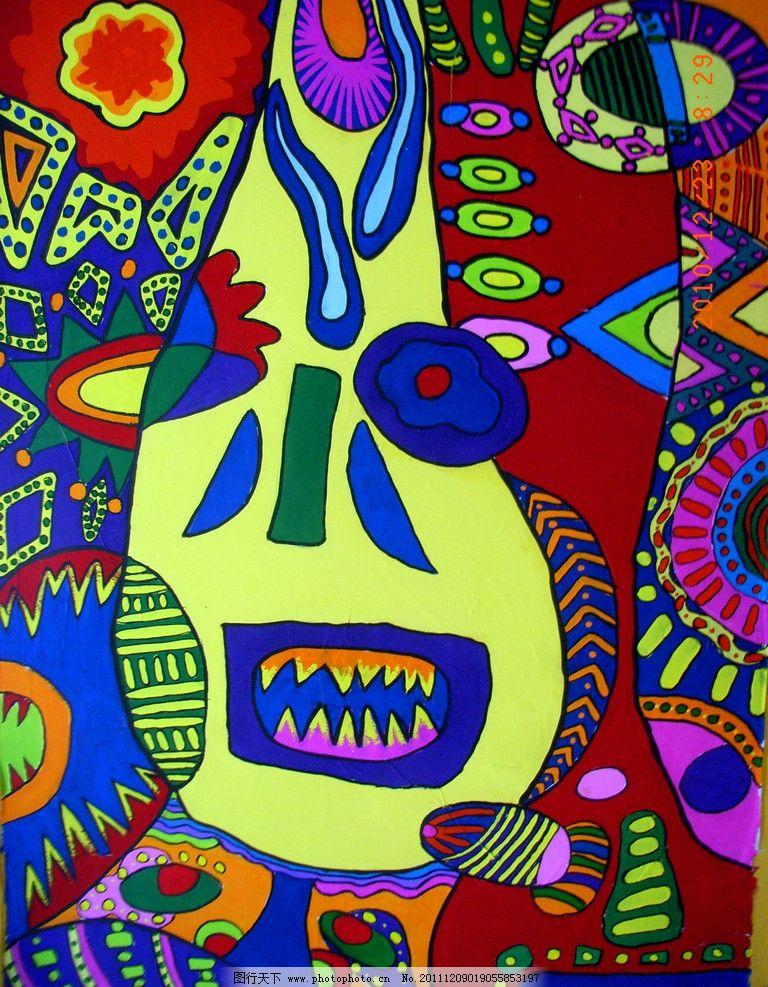 画 图形创意 花 形状 集合体 古面人 人 绘画书法 文化艺术 设计 300