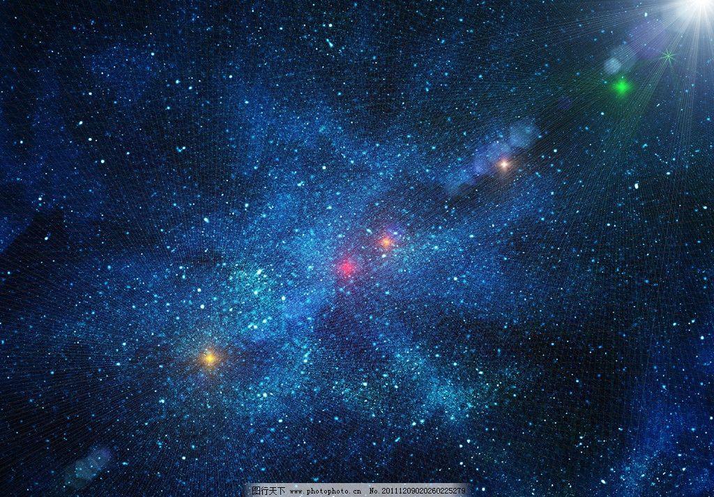 蓝色梦幻宇宙太空图片