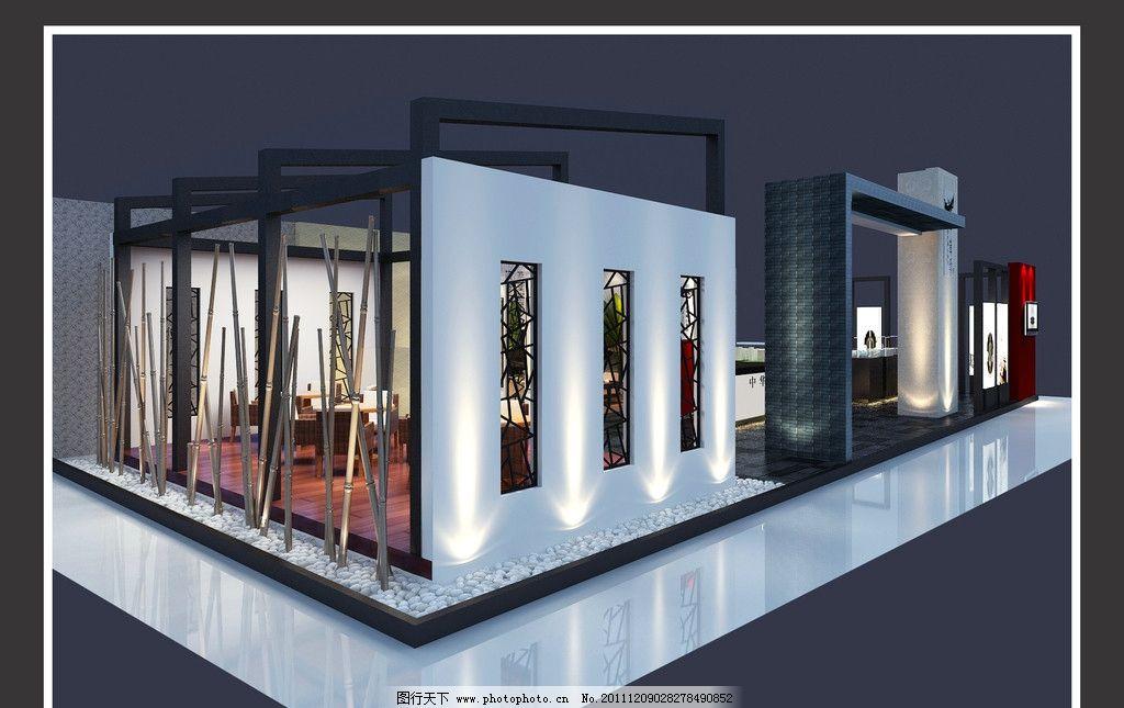 中华坊展览设计 中国风 展厅 展示 灯箱 展览设计 环境设计 设计 72