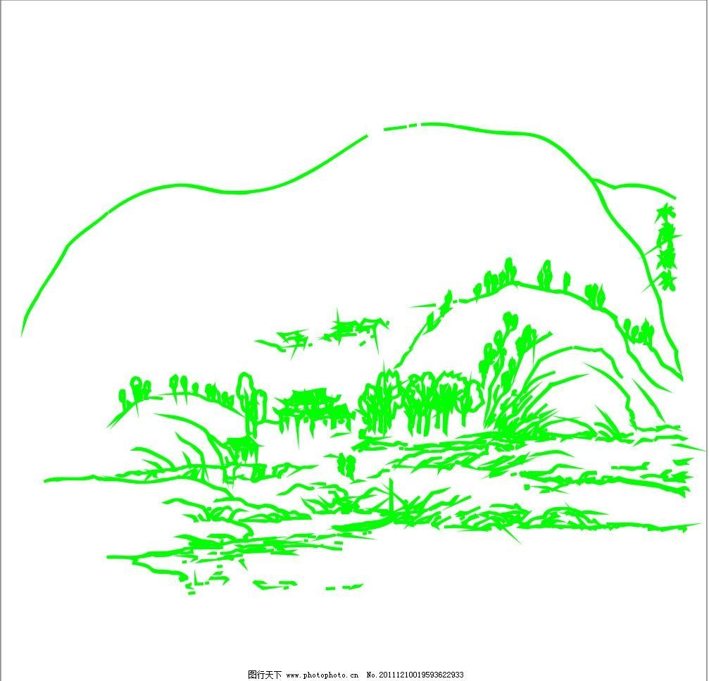 山水风景 山水画 水画 山水 风景画 自然风景 风景 青山绿水 飞鸟