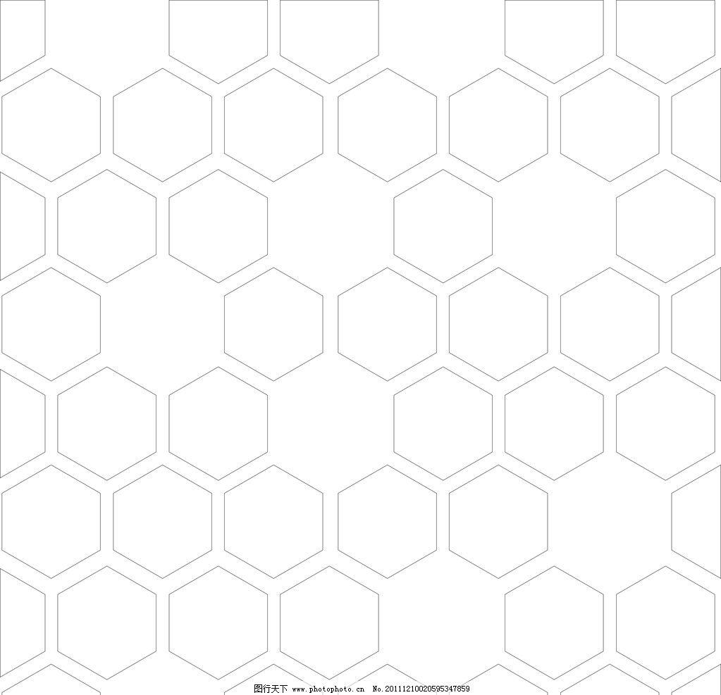 正六边形 矢量图 cdr 背景 拼图 条纹线条 底纹边框 矢量
