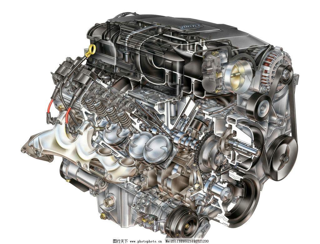 汽车发动机透视图 设计图