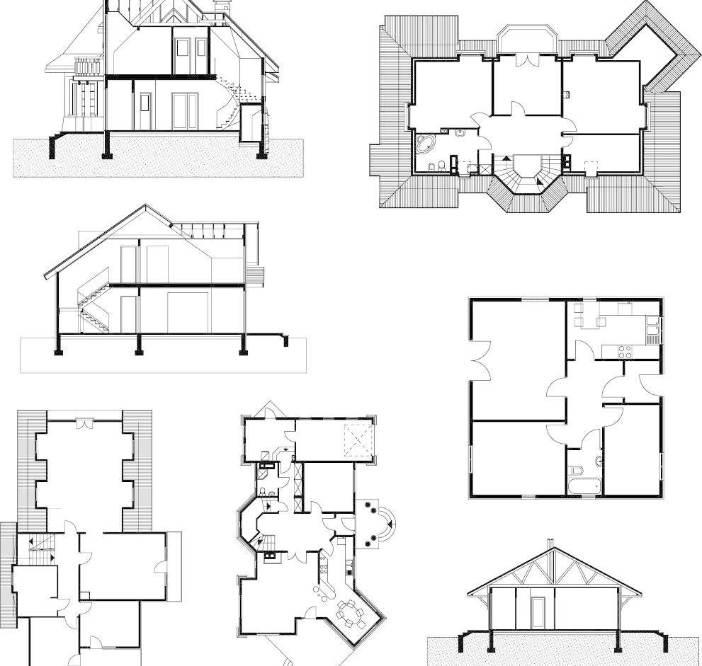 别墅设计图 城市 传统建筑 都市 房屋 格局 工程 城市建筑工程设计图