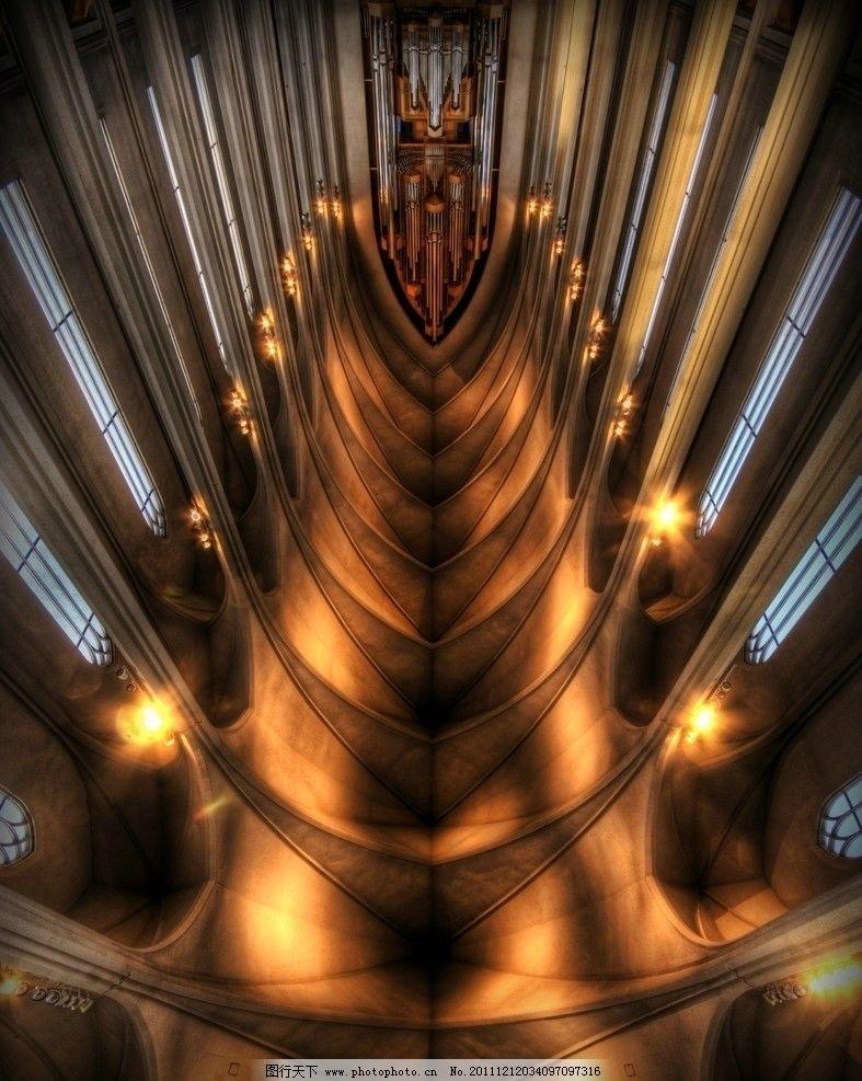 大理石柱 哥特式建筑 金碧辉煌 大气气派 穹顶 油画 金色装饰 天使