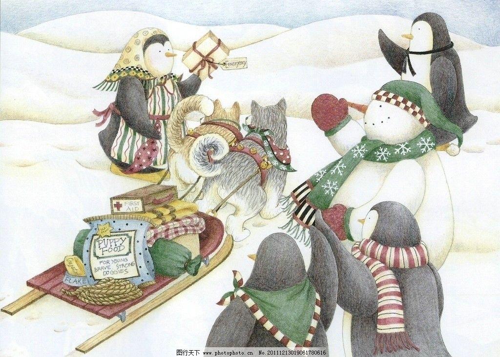 圣诞节绘本 圣诞 绘本 雪人 企鹅 桌面 可爱 绘画书法 文化艺术 设计