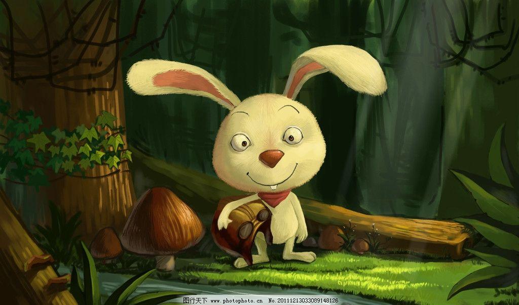 森林兔子图片