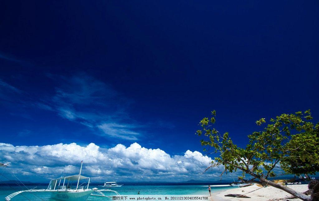海边度假旅游胜地美景 海边度假 旅游胜地 美景 沙滩 蓝天 蓝色 白云